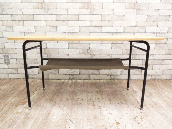 ウニコ unico ロワ ROHR カフェテーブル  cafe table ナチュラル色 カーキ棚布 廃盤 ●