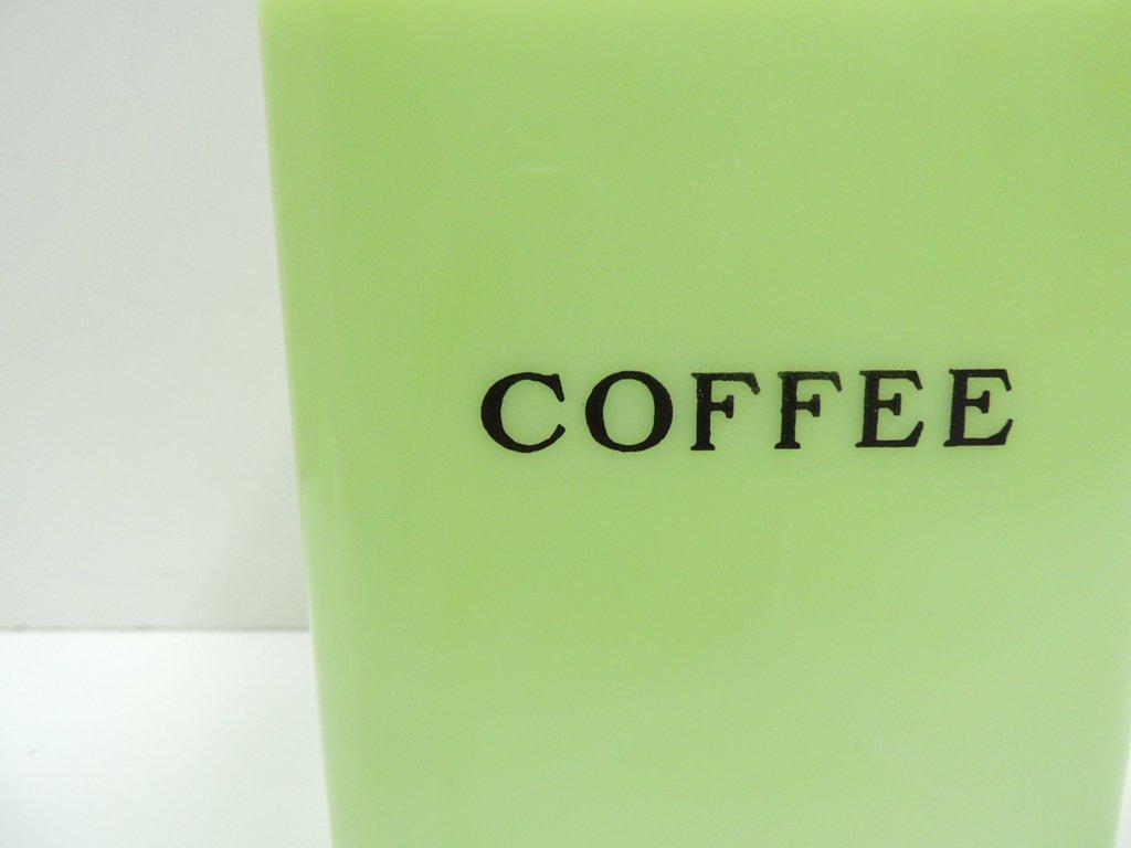 ジャネット Jeannette ライトジェード コーヒー キャニスター スクエア USビンテージ ●