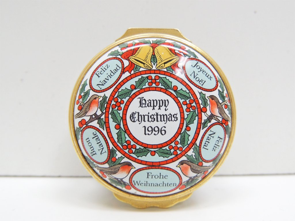 ハルシオン デイズ Halcyon Days エナメル ボックス 小物入れ クリスマス 1996年 ●