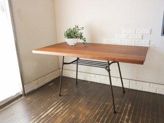 インプション imption REMAKE furniture カフェ ダイニングテーブル 無垢集積材 × 鉄脚 インダストリアルデザイン ◎