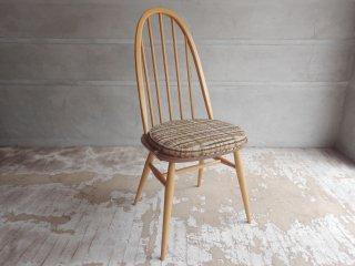 アーコール Ercol クェーカーチェア Quaker Chair クッション付き ダイニングチェア エルム材 英国 UKビンテージ ♪
