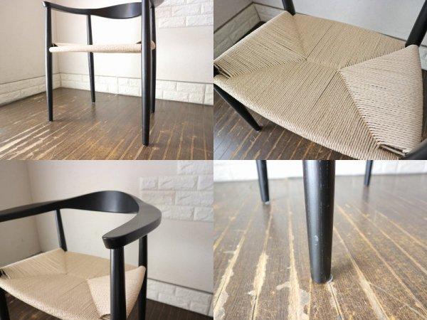 ハンス・J・ウェグナー 名作 ザ・チェア The Chair リプロダクト アッシュ材 ペーパーコード ブラック B ◎