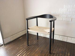 ハンス・J・ウェグナー 名作 ザ・チェア The Chair リプロダクト アッシュ材 ペーパーコード ブラック A ◎