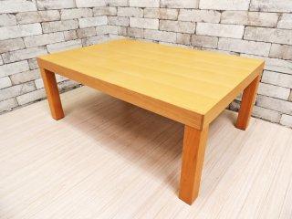 無印良品 MUJI ブナ材 スクエア ローテーブル ナチュラルデザイン センターテーブル 座卓 ●