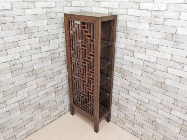 李朝家具 朝鮮棚 ディスプレイキャビネット 飾り棚 和モダン  ●