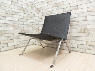 フリッツハンセン FRITZ HANSEN PK22 イージーチェア ラウンジチェア 本革張り ポール・ケアホルム 北欧家具 名作椅子 定価¥610,500- ●