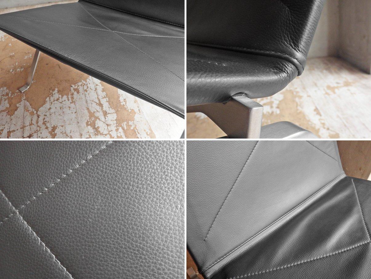 フリッツハンセン FRITZ HANSEN PK22 イージーチェア ラウンジチェア 本革張り ポール・ケアホルム 北欧家具 名作椅子 定価¥610,500-♪