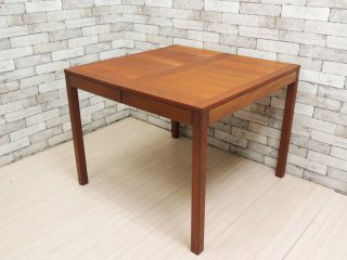 Vejle Stole & Mobelfabrik ビンテージ チーク材 エクステンション ダイニングテーブル 伸長式 テーブル ミッドセンチュリー ●