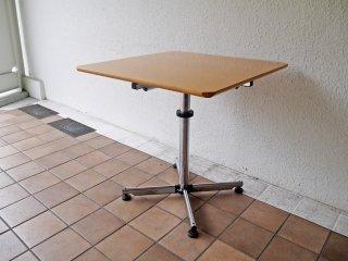 USMハラー USM Haller キトス KITOS スクエア テーブル 正方形 W75  ビーチ材天板 オフィス家具 店舗什器 MoMA ◇