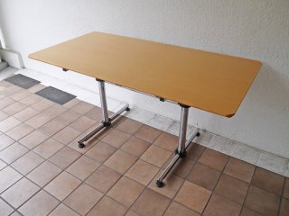 USMハラー USM Haller キトス KITOS テーブル デスク レクタングル 長方形 W150 ビーチ材天板 オフィス家具 店舗什器 MoMA ◇