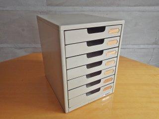 プラス PLUS スチール製 A4サイズ 7段 書類棚 レターケース インダストリアル A ♪