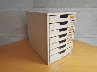 プラス PLUS スチール製 A4サイズ 7段 書類棚 レターケース インダストリアル B ♪