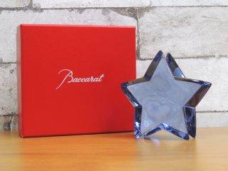 バカラ Baccarat クリスタル ザンザンエトワール スター Zinzin Etoile Star ミッドナイト ブルー ペーパーウェイト ●
