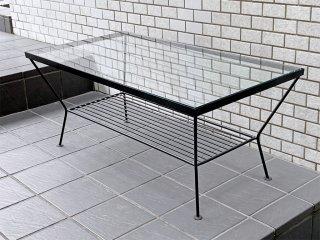 ウニコ unico エディ EDDY ガラス ローテーブル Lサイズ アイアンフレーム ノスタルジックデザイン ■