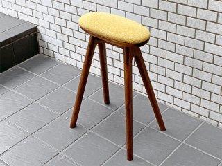 ナガノインテリア Friendly!! コッペ coupe kitchen stool ハイスツール H58cm キッチンスツール ウォールナット 北欧スタイル A ■
