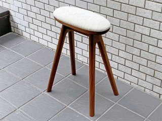 ナガノインテリア Friendly!! コッペ coupe kitchen stool ハイスツール H53cm キッチンスツール ウォールナット 北欧スタイル B ■