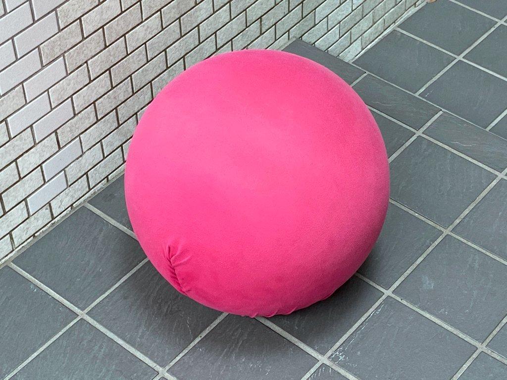 バレリイタリア BALERIITALIA タティーノ Tatino スツール ボール型 チェア オットマン クッション ピンク ■