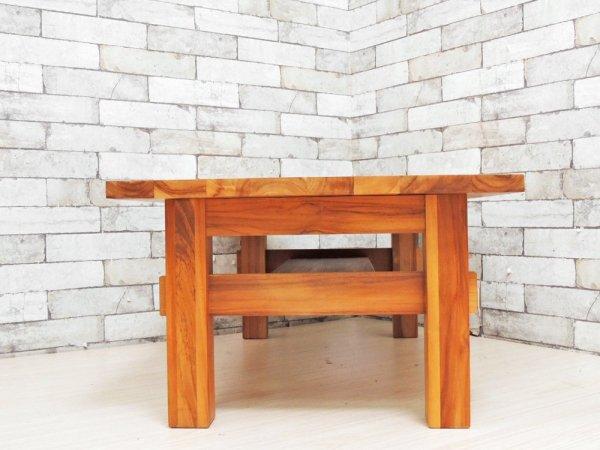 ウニコ unico ブレス BREATH ローテーブル センターテーブル チーク無垢材 廃番 希少 ●