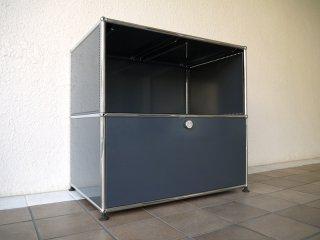ユーエスエムハラーシステム USM Haller 1×2 サイドボード W786 アントラサイト 定価¥144,383+α シェルフ キャビネット オフィス家具 MoMA スイス製 ◇
