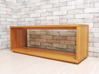 無印良品 MUJI オーク無垢材 ダイニングベンチ 板座 ナチュラルデザイン ●