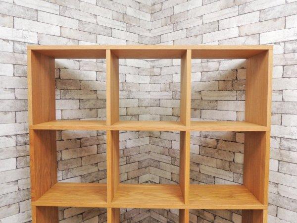 無印良品 MUJI スタッキングシェルフ 3列4段 オーク材 オープンシェルフ ブックシェルフ ナチュラルデザイン ●