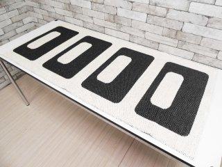 パペリナ papelina ラグマット キッチンマット 玄関マット モノトーン 154×72cm ●