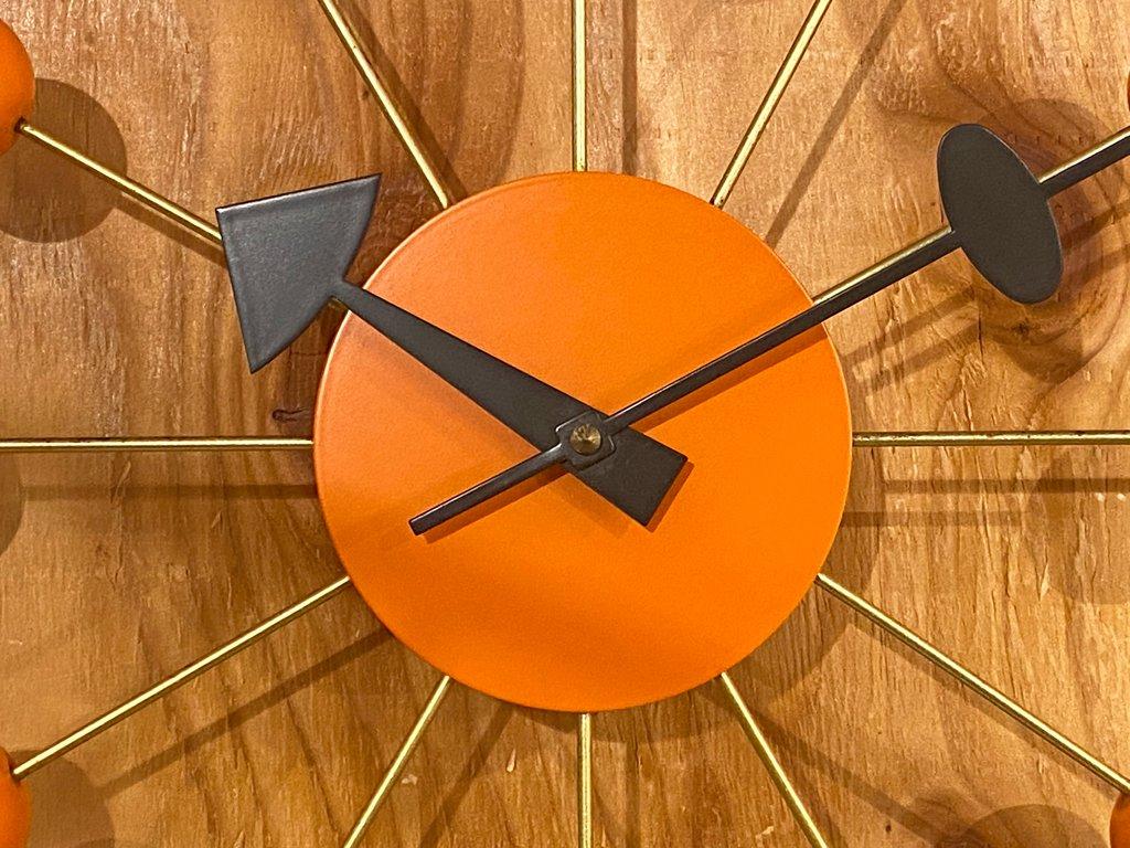 ヴィトラ Vitra ジョージネルソン George Nelson ボールクロック オレンジ ネルソンクロック ウォールクロック ミッドセンチュリー ■