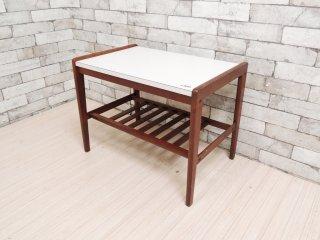 カリモク karimoku デコラトップ サイドテーブル センターテーブル ビンテージ オールドカリモク ●