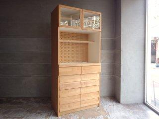 ウニコ unico トゥオ TUO キッチンボード カップボード 食器棚 Sサイズ アルダー材 ナチュラル ♪