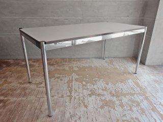 USMモジュラーファニチャー USMハラー USM Haller ワーキングテーブル カンファレンステーブル ダイニングテーブル W150cm ホワイトラミネート天板 A♪