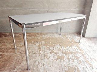 USMモジュラーファニチャー USMハラー USM Haller ワーキングテーブル カンファレンステーブル ダイニングテーブル W150cm ホワイトラミネート天板 B♪
