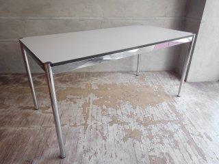 USMモジュラーファニチャー USMハラー USM Haller ワーキングテーブル カンファレンステーブル ダイニングテーブル W150cm ホワイトラミネート天板 C♪