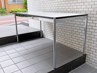 ユーエスエムハラー USM Haller モジュラーファニチャー ハラーシステム ワーキングテーブル カンファレンステーブル ダイニングテーブル W150cm ホワイトラミネート天板 B ■