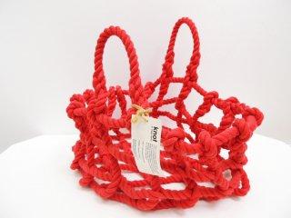 Shigeki Fujishiro 藤城成貴デザイン ノット knot ロープバッグ Sサイズ レッド ●