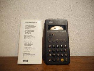ブラウン BRAUN カリキュレーター ET44 オリジナルデザイン ドイツ 電卓 計算機 iphone 電卓アプリ 動作不良★