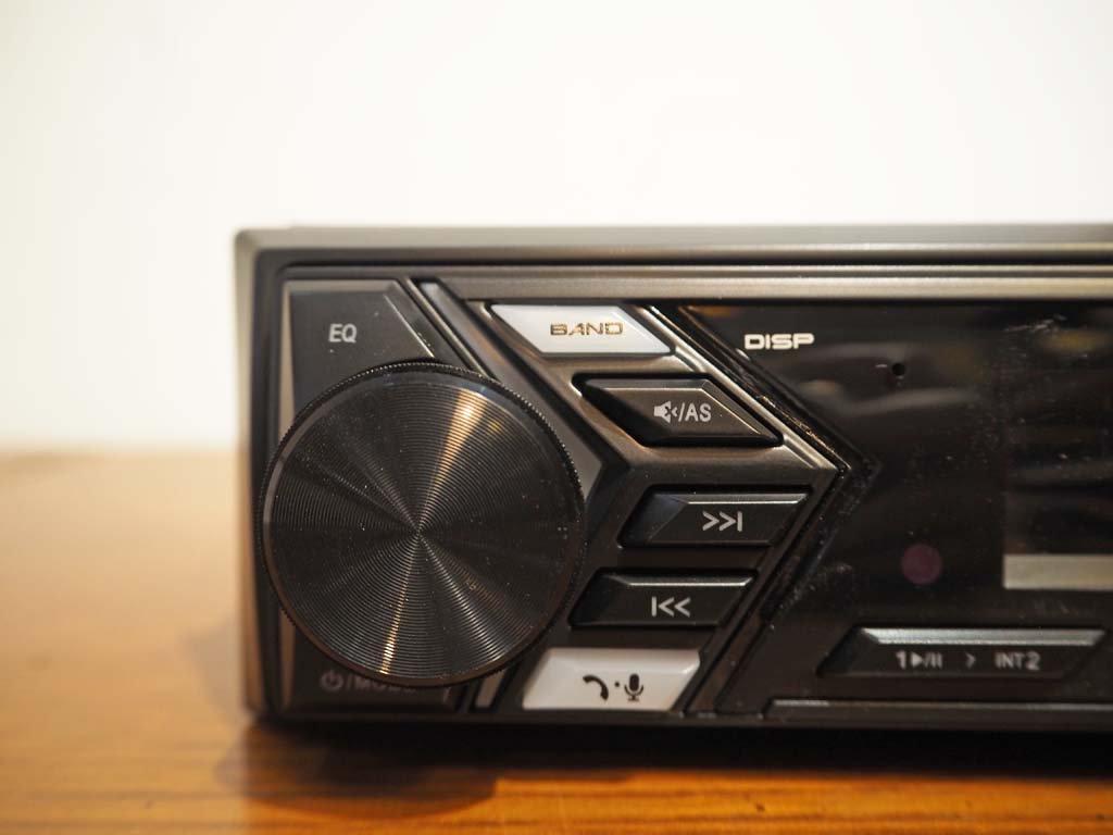 ナカミチNakamichi NQ711B カーオーディオ リモコン付 Bluetooth内蔵 USB MP3 AUX-IN 1DINデッキ デジタルオーディオレシーバー 美品 ★