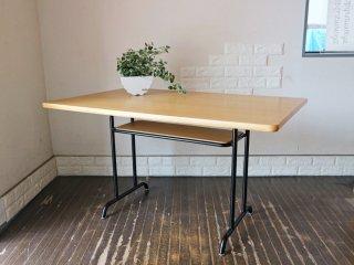 ウニコ unico ファニート FUNEAT ダイニングテーブル オーク材 鉄脚 W120cm レトロデザイン カフェスタイル ◎