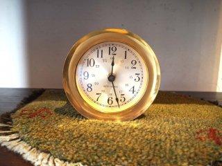 セス トーマス SETH THOMAS デッキクロック 船舶時計 真鍮フレーム クォーツ 動作品 米海軍採用 US ビンテージ ★