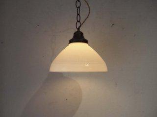 ビンテージ ミルクガラスシェード ランプ アンティーク ペンダントライト 天井照明 ★