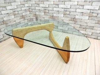 イサムノグチ Isamu Noguchi コーヒーテーブル Coffee Table ガラス天板厚15mm リプロダクト品 デザイナーズ家具 名作 ●