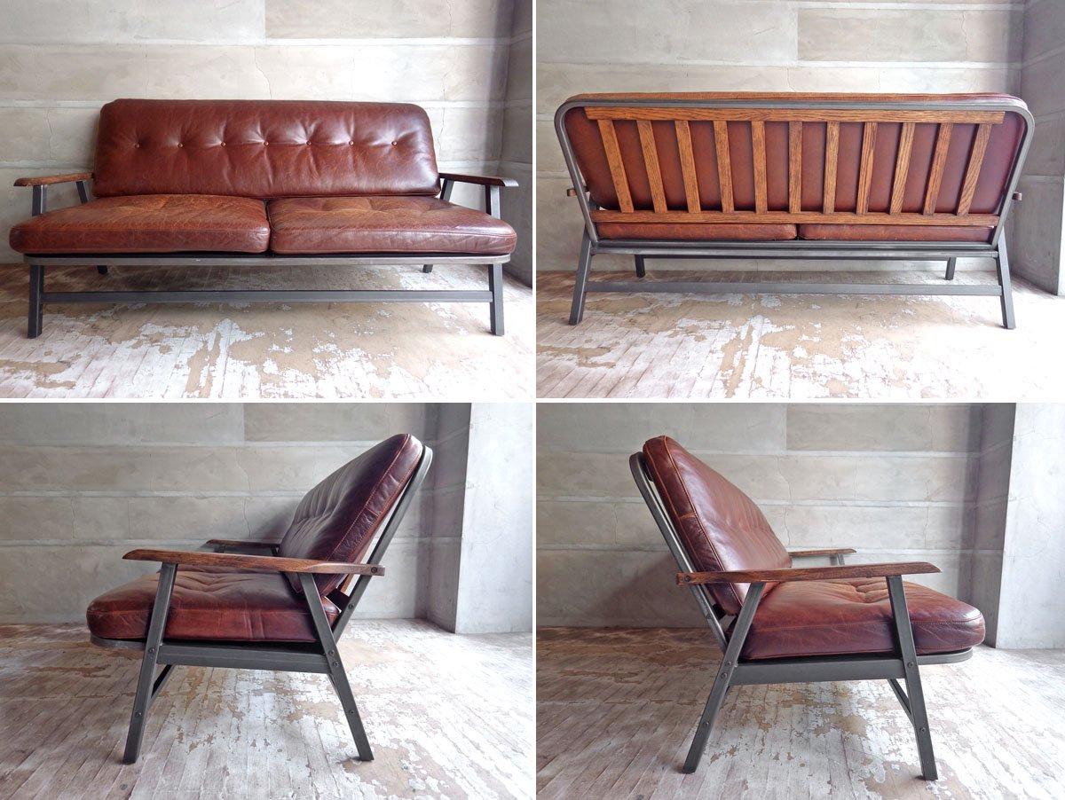 アクメファニチャー Acme Furniture グランビュー Grandview 2P ソファ オイルレザー ビンテージ加工 インダストリアル カフェスタイル  ♪