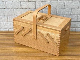 倉敷意匠 classiky ishow ならのソーイングボックス 裁縫箱 お針箱 ナラ材 ■