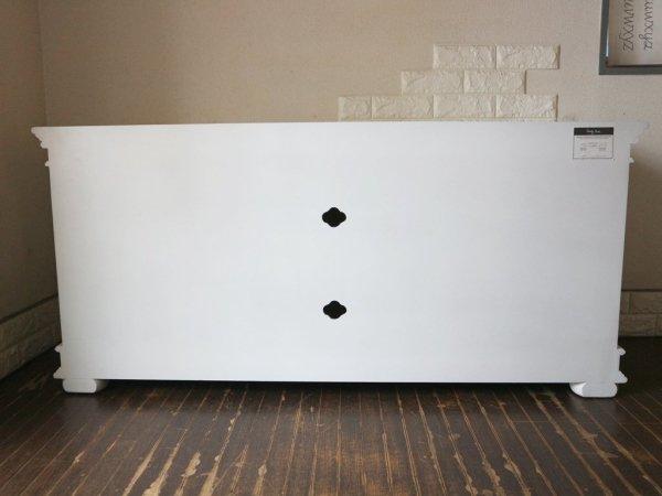 青山キノ kino サイドボード TVボード ホワイト フレンチカントリー シャビーシック 定価148,500円 ◎