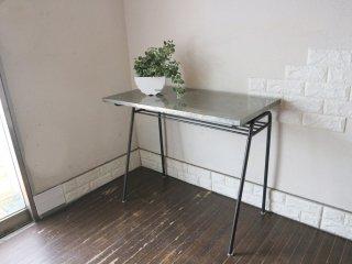 ジャーナルスタンダードファニチャー journal standard Furniture リル LILLE ワークデスク テーブル 亜鉛メッキ アイアンレッグ インダストリアル 廃番 ◎