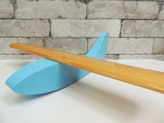 ノーマンコペンハーゲン Normann Copenhagen PLANE 3 ブルー 木製 飛行機 オブジェ モビール ●