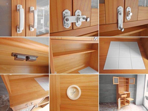 モモナチュラル Momo natural ランド LAND レンジボード キッチンボード 食器棚 定価¥86,900- ♪