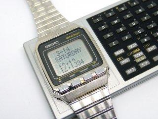 セイコー SEIKO UC-2001 & UC-2100 腕コン&キーボード 1984年発売 腕時計 リストコンピューター DATAGRAPH2001 海外版UC-2000 ハイテクウォッチ ●