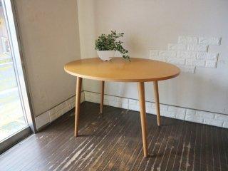 ウニコ unico アルベロ ALBERO カフェテーブル ダイニングテーブル オーバル チーク材 ◎