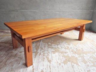 ウニコ unico ブレス BREATH ローテーブル センターテーブル Lサイズ チーク無垢材 ナチュラルスタイル ♪