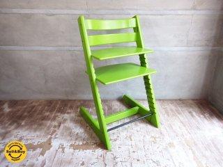 ストッケ STOKKE AS ベビーチェア トリップトラップ TRIPP TRAPP 新型初期 ナチュラル + 希少 廃盤 木製ガード付き ステップアップ ハイチェア 子供椅子 北欧 ノルウェー ◇